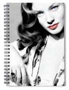 Lauren Bacall Large Size Portrait 2 Spiral Notebook