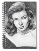 Lauren Bacall Spiral Notebook
