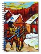 Laurentian Village Ride Spiral Notebook