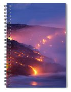 Lava At Twilight Spiral Notebook