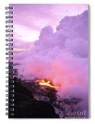 Lava Enters Ocean Spiral Notebook