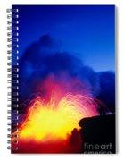Lava Explodes Spiral Notebook