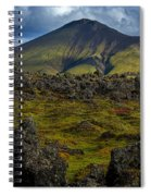 Lava Field And Mountain - Iceland Spiral Notebook