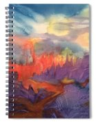 Lava Flow Abstract Spiral Notebook