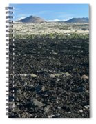 Lava Flow And Schonchin Butte, Lava Beds Nm, California, Usa Spiral Notebook