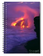 Lava Meets Ocean Action Spiral Notebook