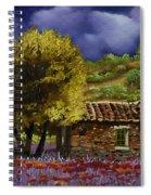 Lavanda Sotto Il Cielo Blu Spiral Notebook