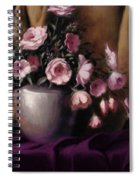 Lavander And Pink Flowers In Silver Vase Spiral Notebook
