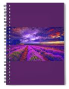 Lavandula Spiral Notebook