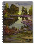 Lavender Field, Langley B C Spiral Notebook