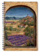 Lavender Fields And Village Of Provence Spiral Notebook
