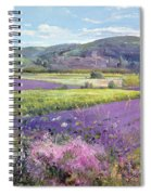 Lavender Fields In Old Provence Spiral Notebook