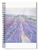 Lavender Fields Provence-france Spiral Notebook