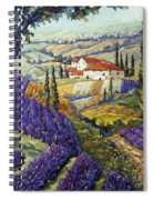 Lavender Fields Tuscan By Prankearts Fine Arts Spiral Notebook