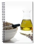 Lavender Flower Aromatherapy Scent Manufacturing Process Spiral Notebook