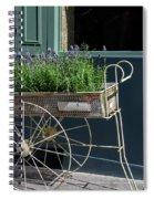Lavender Flower Cart In Montmarte Paris Spiral Notebook
