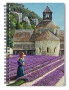 Lavender Picker - Abbaye Senanque - Provence Spiral Notebook