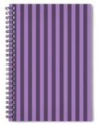Lavender Purple Striped Pattern Design Spiral Notebook