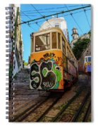 Lavra Funicular, Lisbon, Portugal Spiral Notebook
