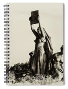 Law Prosperity And Power In Black And White Spiral Notebook