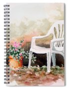 Lawn Chair With Flowers Spiral Notebook