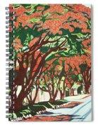 Lawson Avenue Flamboyants Spiral Notebook