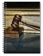 Lawyer - The Judge's Gavel Spiral Notebook