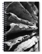 Layered Curves B W Spiral Notebook