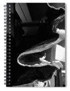 Layered Rock B W  Spiral Notebook