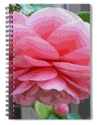 Layers Of Pink Camellia - Digital Art Spiral Notebook