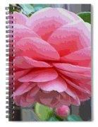 Layers Of Pink Camellia - Digital Art Spiral Notebook