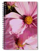 Layers Of Pink Cosmos - Digital Art Spiral Notebook
