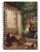 Lazarus And The Rich Man 1865 Spiral Notebook
