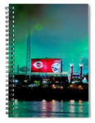 Laser Green Smoke And Reds Stadium Spiral Notebook