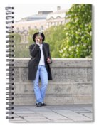 Lazy Day In Paris Spiral Notebook