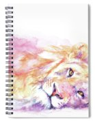 Lazy Days - Lion Spiral Notebook