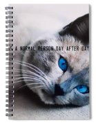 Lazy Summer Quote Spiral Notebook