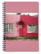 Lazy U Motel - Pink And Red Spiral Notebook