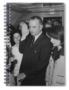 Lbj Taking The Oath On Air Force One Spiral Notebook
