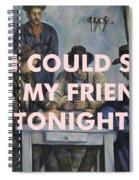 Lcd Soundsystem Lyrics Print Spiral Notebook