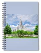 Lds Draper Temple Spiral Notebook