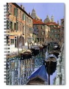 Le Barche Sul Canale Spiral Notebook