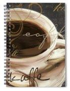 Le Cafe Dark Spiral Notebook