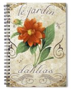 Le Jardin Dahlias Spiral Notebook