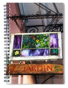 Le Jardin Fine Art Spiral Notebook