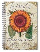 Le Jardin Tournesols  Spiral Notebook