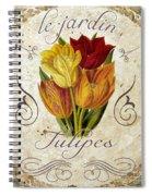 Le Jardin Tulipes Spiral Notebook