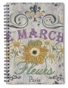 Le Marche Aux Fleurs 1 Spiral Notebook
