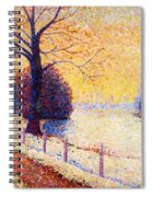 Le Puy In The Snow 1889 Spiral Notebook