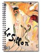 Le Sillon - The Path - Vintage Art Nouveau Poster Spiral Notebook